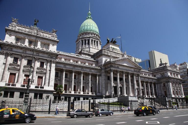 The Congreso building, Buenos Aires