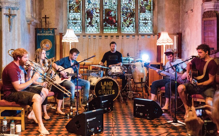 Land of the Giants playing at Kingskerswell Church, Devon