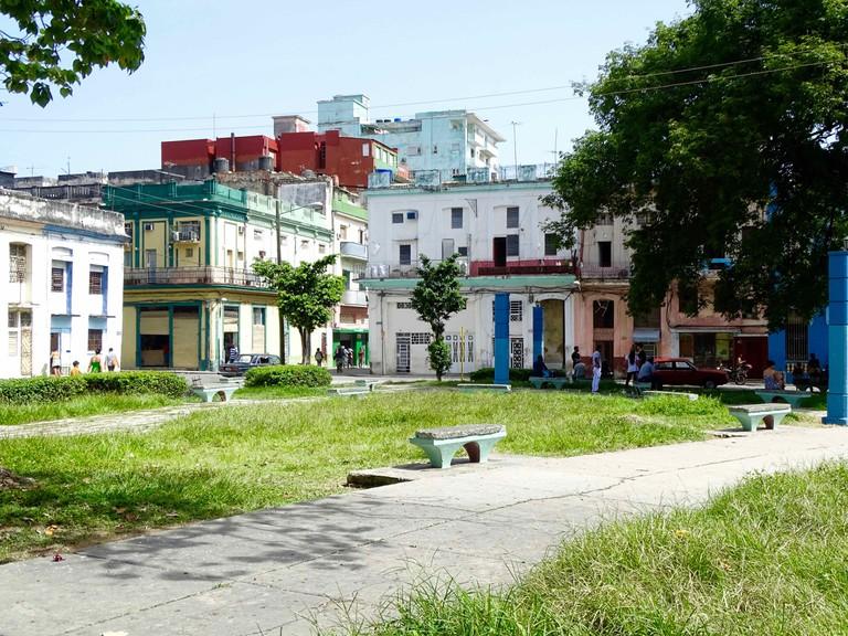 Public Wi-Fi park in Havana   © Amber C. Snider