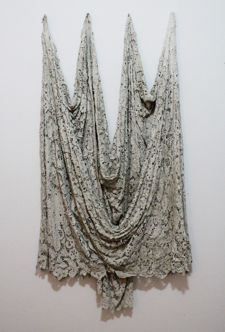 Cement dipped lace from 2015, untitled, (c) Lucas T. McMahon