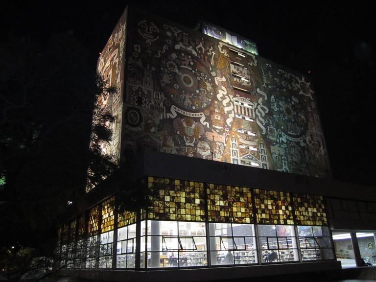 Mexico's National Library in Ciudad Universitaria