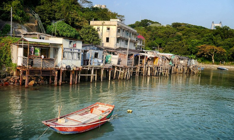 The old Ma Wan village now lies empty, a ghost town