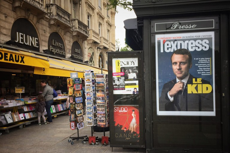 The hype around Macron's election as expressed by a French magazine