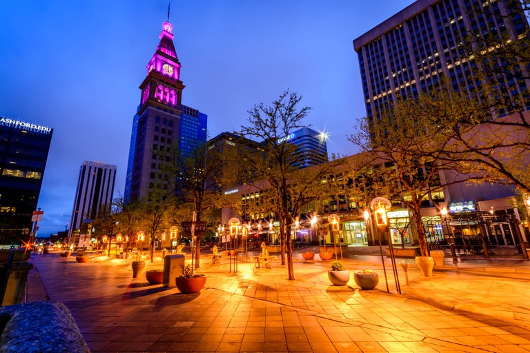 16th Street Mall with D&F Clock Tower