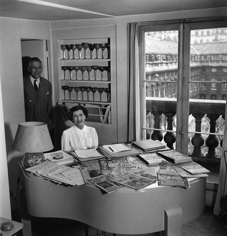 Mireille and Emmanuel Berl, at 36 Rue de Montpensier, Paris, 1950