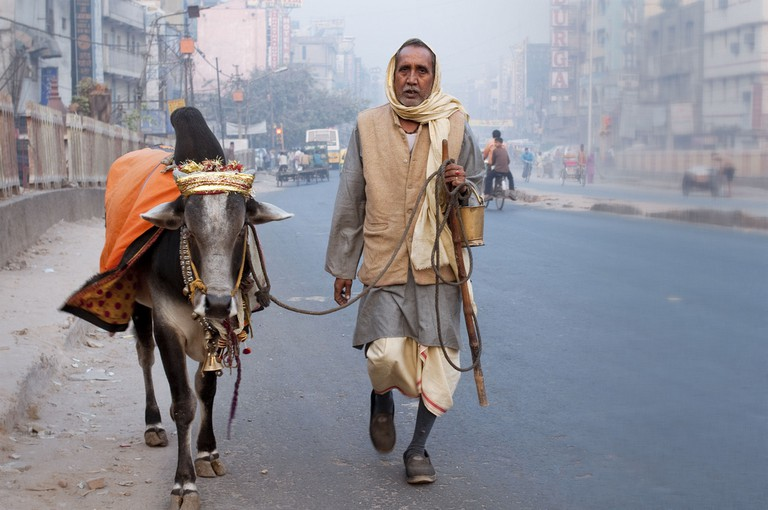 A man with a cow | © MM/Flickr