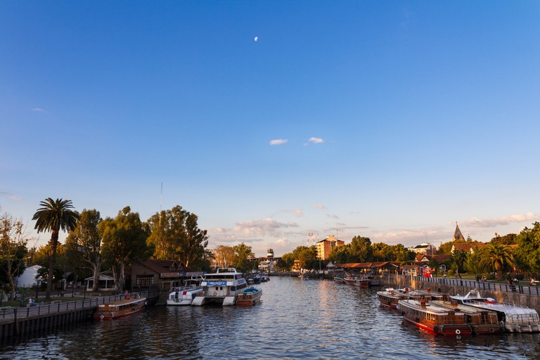 Evening in Tigre, the Little Venice of South America