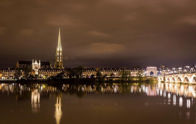 Night view over the Saint Michel Basilica