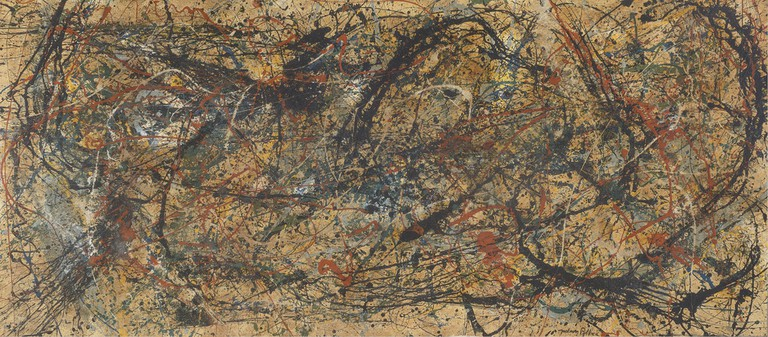 Work in the style of Jackson Pollock   Private Collection/Image courtesy of Winterthur Museum