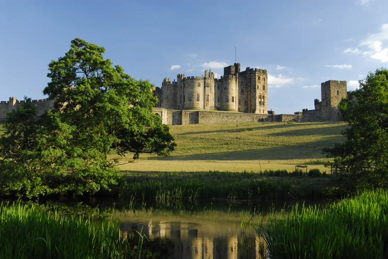 Alnwick Castle, England UK, filming location of Transformers: The Last Knight.