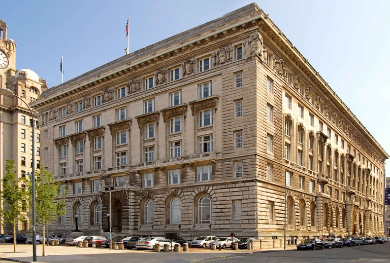 Cunard building, England UK, filming location of Florence Foster Jenkins.