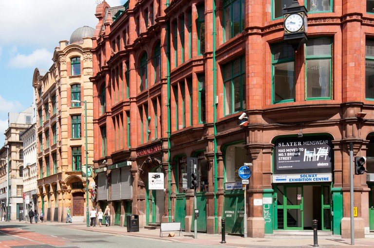 Dale Street, Manchester, England UK, filming location of Fast & Furious 6.