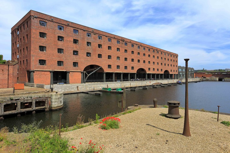 Stanley Dock, Liverpool, Merseyside, England, UK, filming location of Captain America: The First Avenger.
