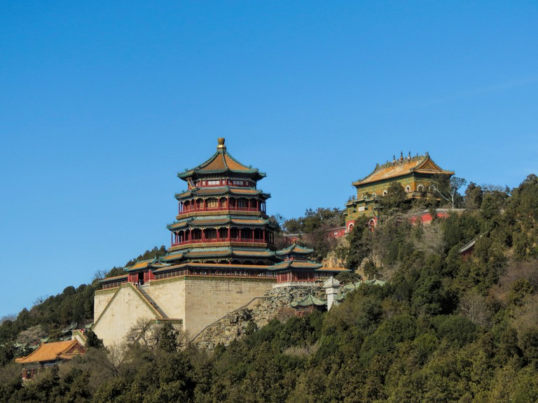 As it stands today, the Old Summer Palace in Beijing, China