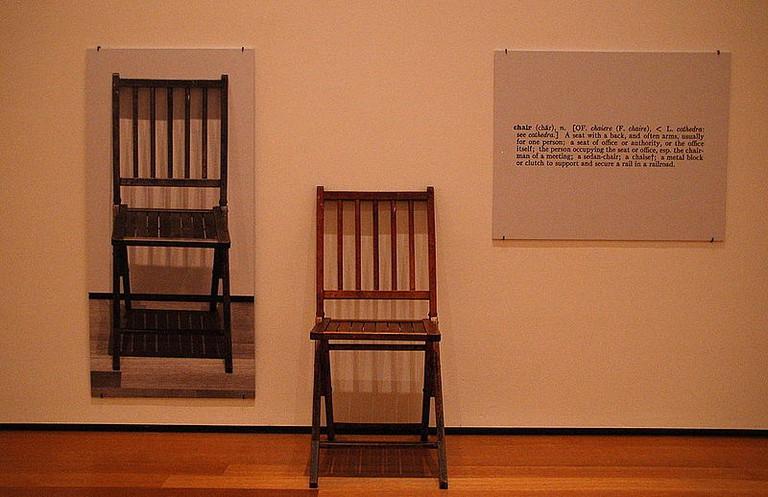 Joseph Kosuth's One and Three Chairs
