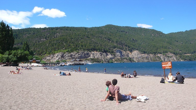 Lake Lacar has some wonderful beaches, including Catritre