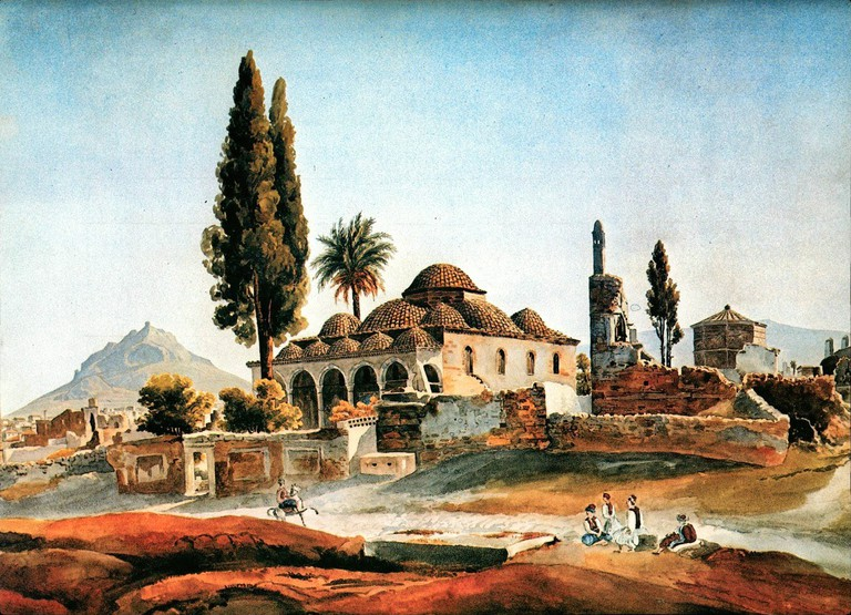The Fethiye Mosque with the Tower of the Winds by Pierre Peytier