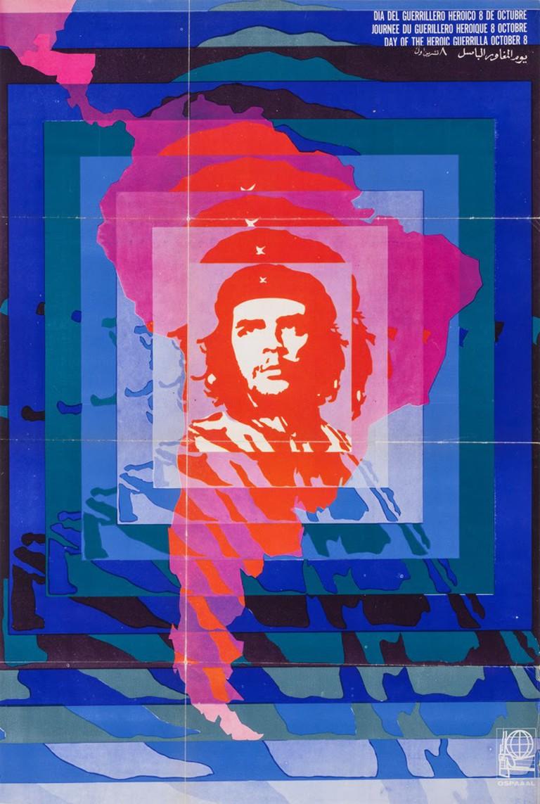 Elena Serrano, Dia del Guerrillero Heroico (1968) | Courtesy of Poster House