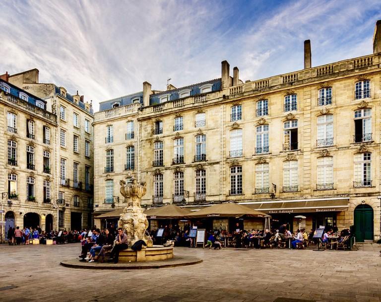 Place du Parlement in Old Bordeaux