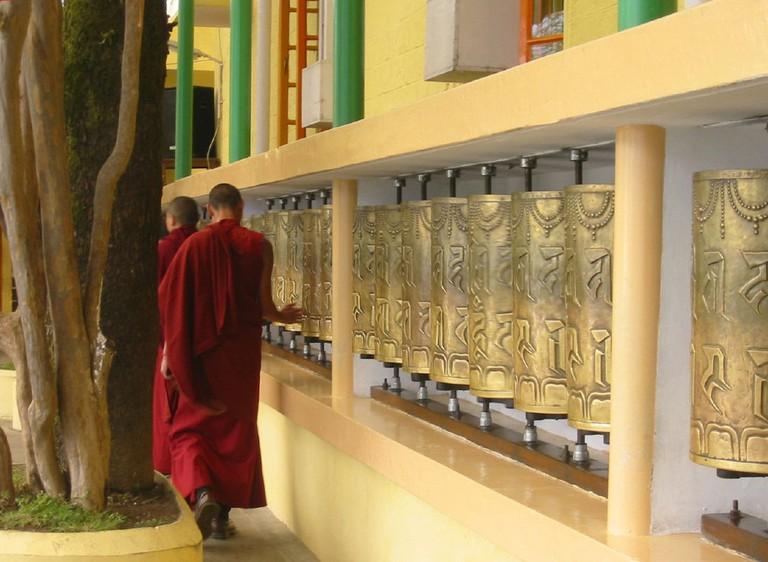 Monks making circumambulation