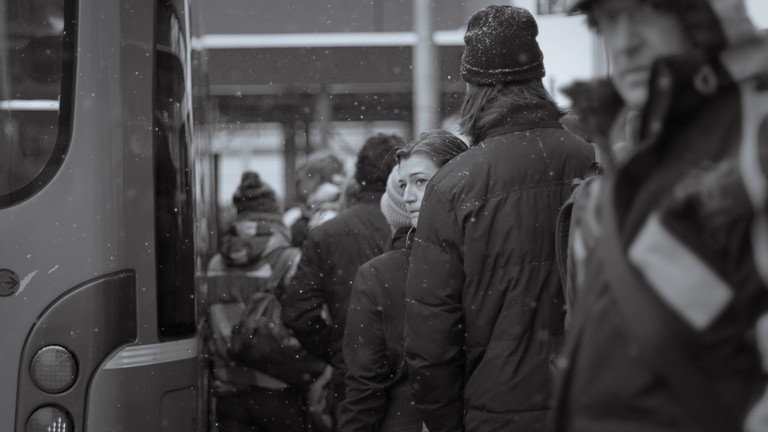 Queuing for the bus