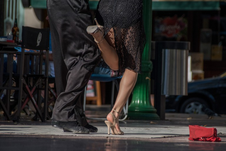 The beautiful steps of tango in Buenos Aires