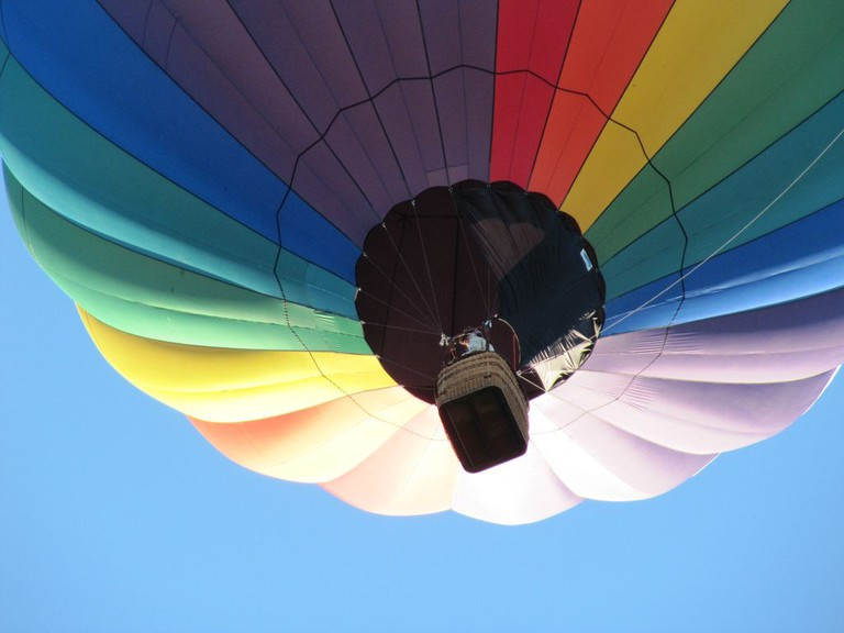 Take a hot air balloon over the pyramids and avoid the crowds