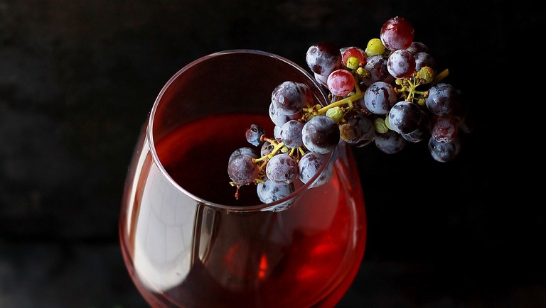 Bathing in red wine has speculative health benefits