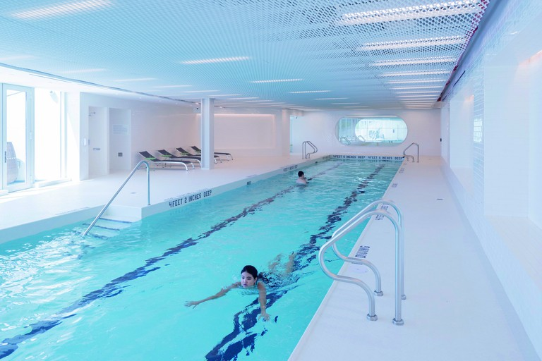 Indoor swimming pool at VIA 57 West