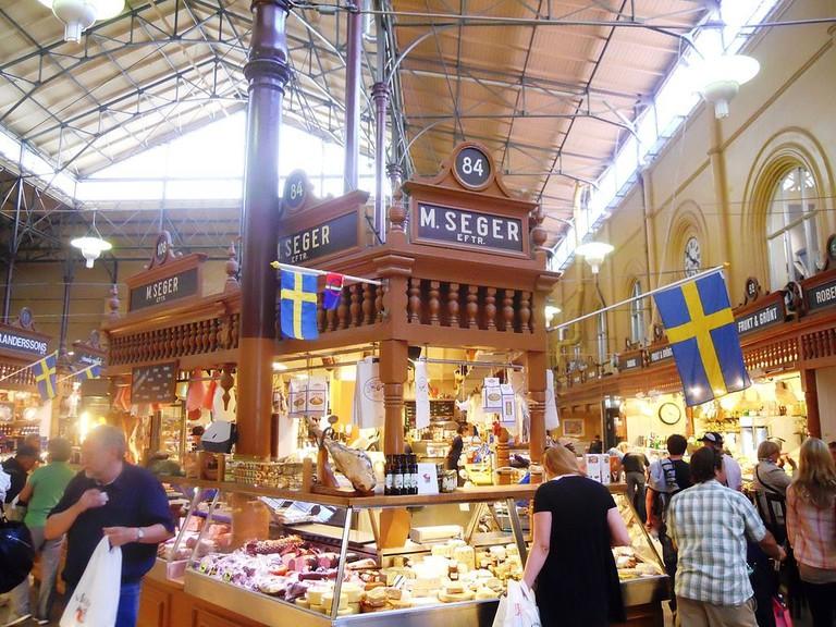 Explore the food market Saluhall