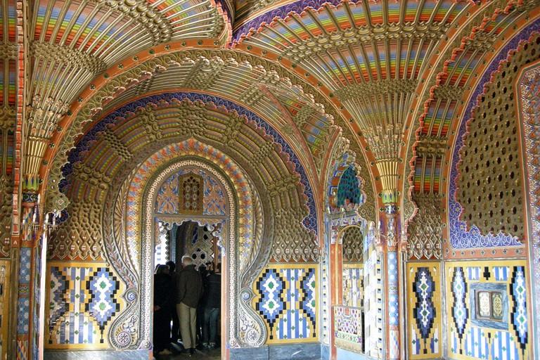The Peacock Room in Castello di Sammezzano