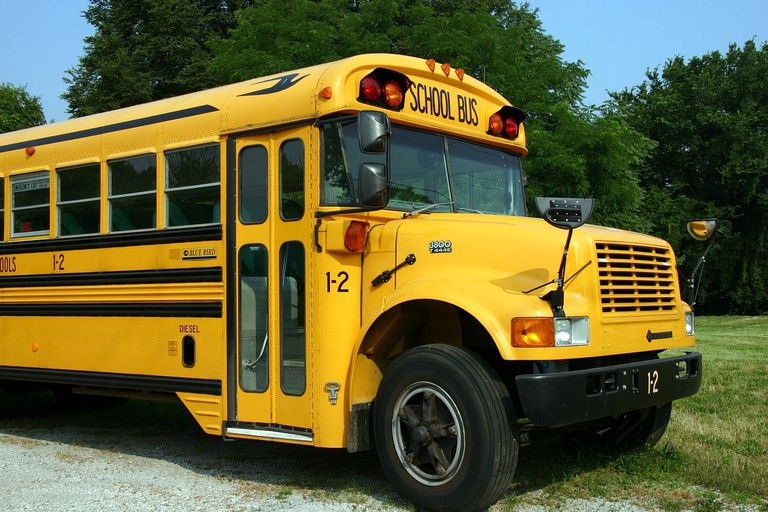 A typical school bus