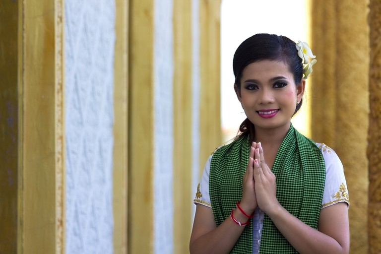 The traditional way to greet people in Cambodia