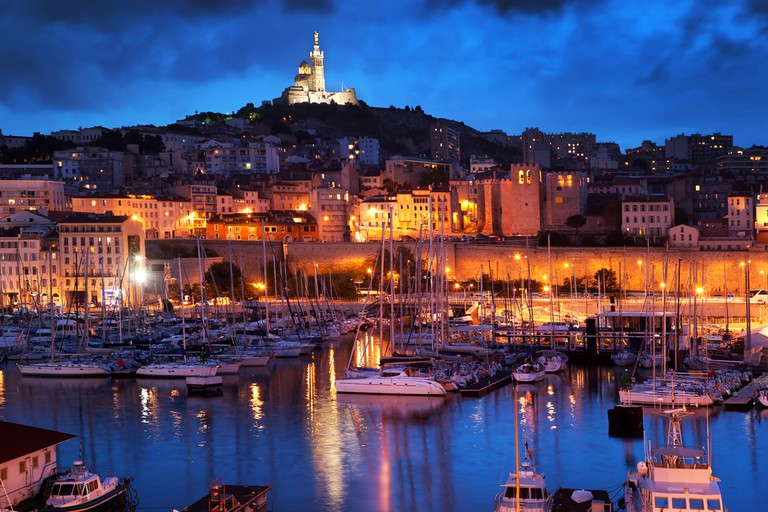 The Old Port and Notre-Dame de la Garde in Marseille