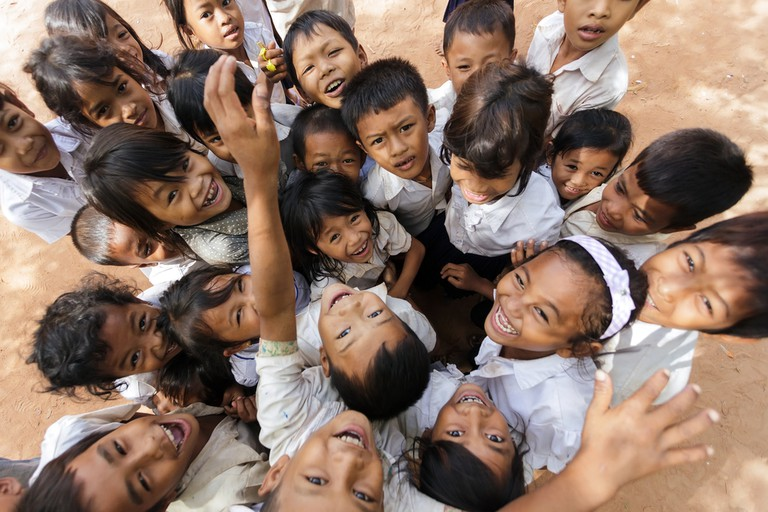 Smiles are everywhere in Cambodia
