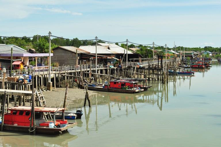 Fishing Village in Pulau Ketam (Crab Island)