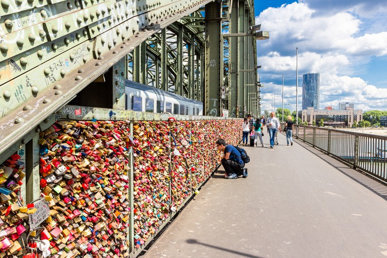 The love locks have become a popular tourist attraction