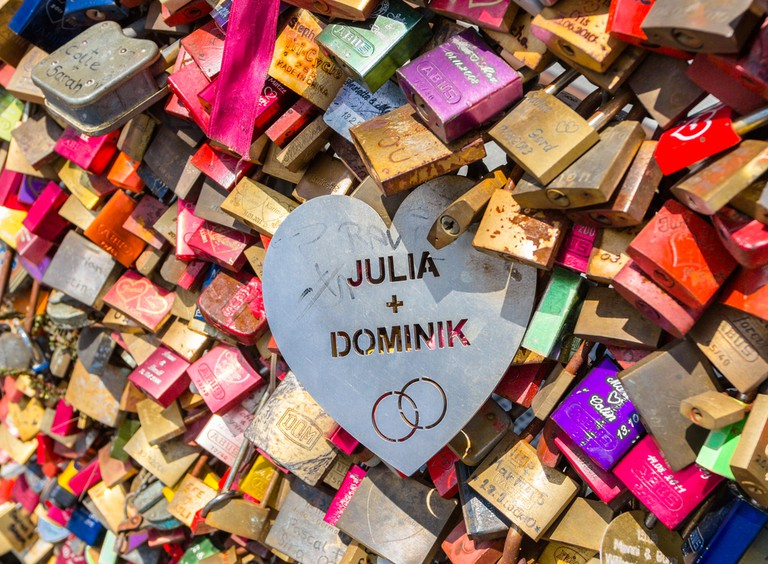 Some love locks stand out from the crowd