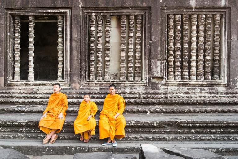 Monks at Angkor Wat in Siem Reap