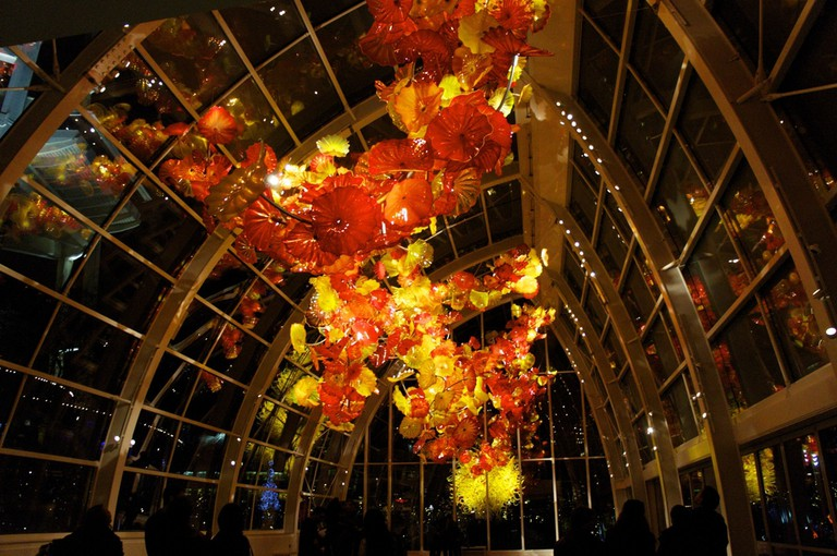 There is beautiful artwork on display at Chihuly Garden and Glass