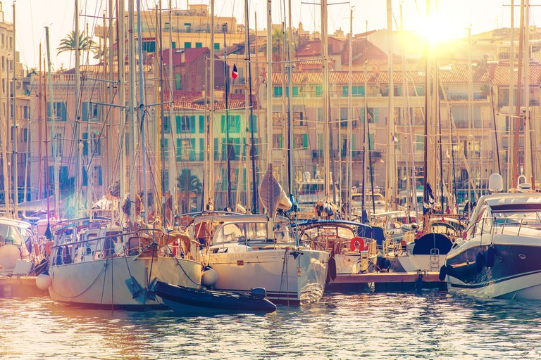 The harbour in Cannes