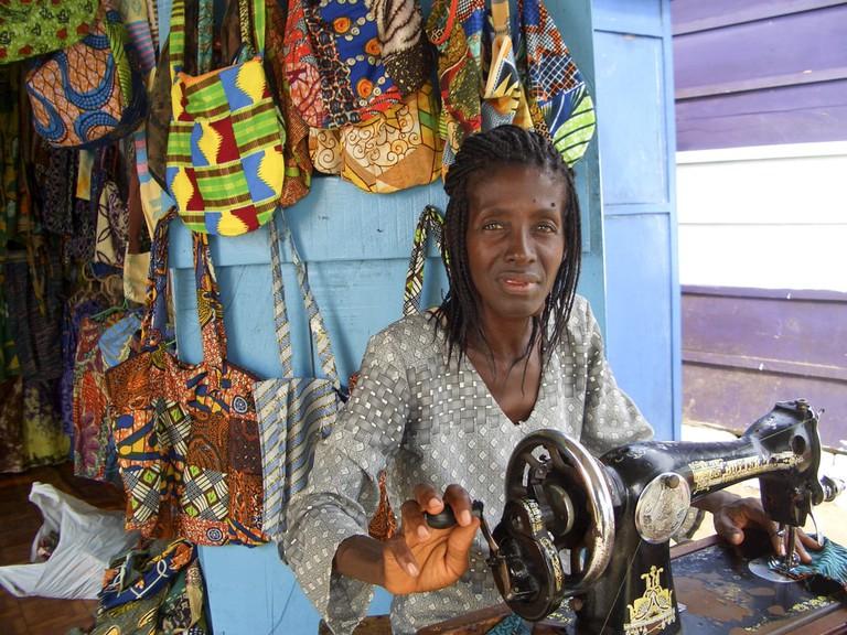Ghanaian seamstress