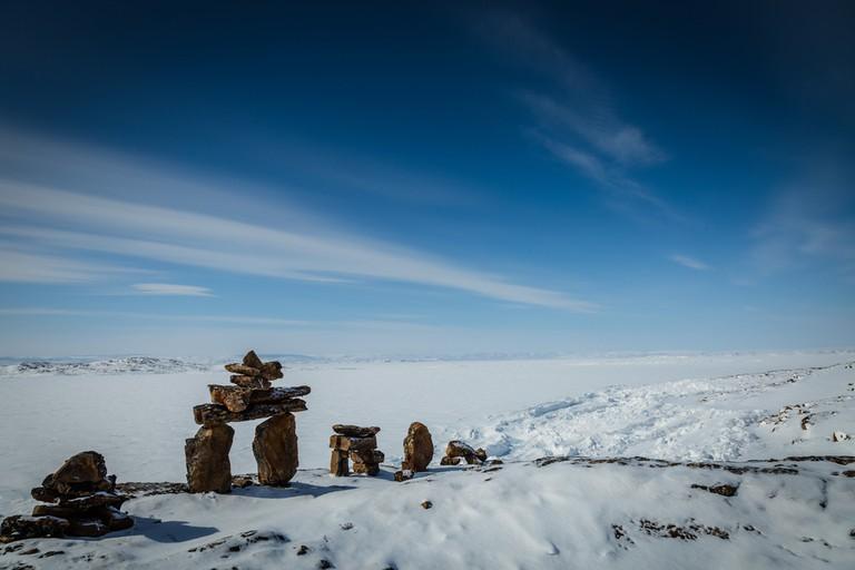 Traditional Inukshuk in Nunavut