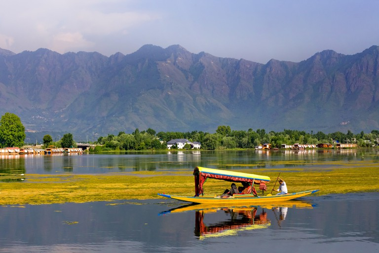 Srinagar is a valley city, situated on the banks of river Jhelum