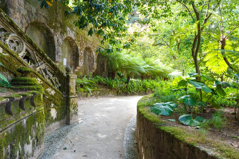 A romantic garden in the Quinta da Regaleira