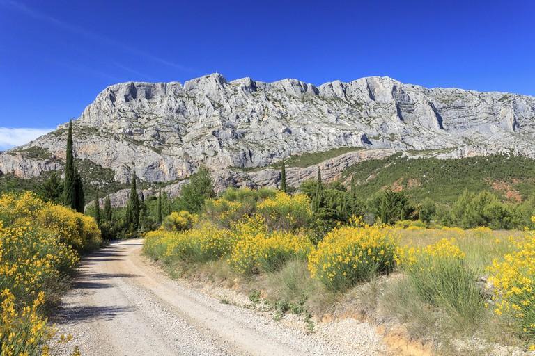The Sainte-Victoire mountain outside Aix-en-Provence