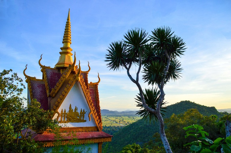 Phnom Sampeau pagoda in Battambang