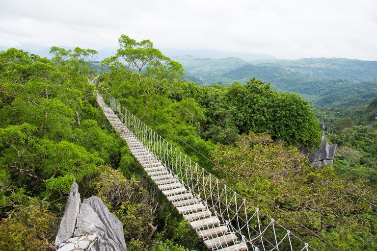 Hanging Bridge at Masungi Georeserve
