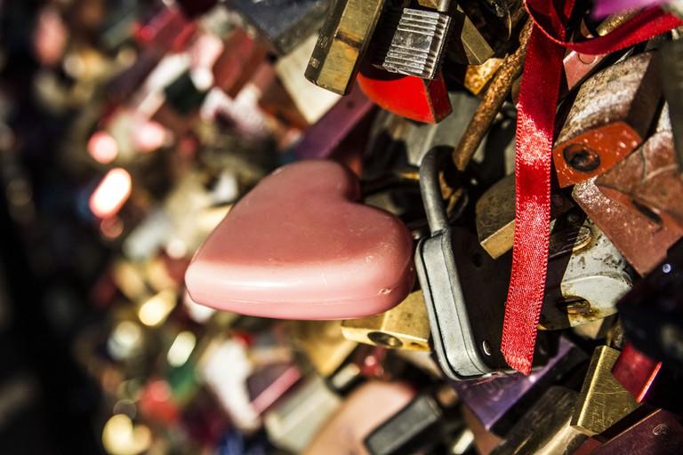 Love locks symbolise everlasting love