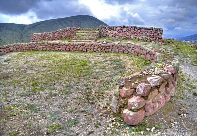 Cara-Incan Ruins of Rumicucho, Ecuador